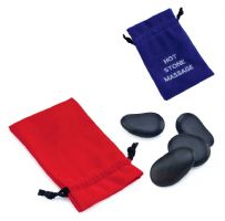 Massage Basalt Stones in Drawstring Bag